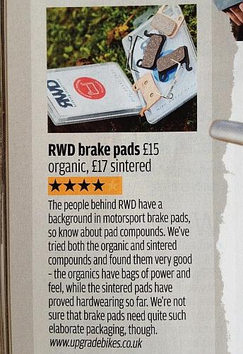 RWD Disk Pads